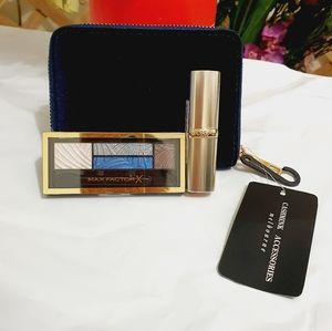 Set | MAX FACTOR Smokey Eye Kit + L'OREAL Lipstick + Wallet | All NEW